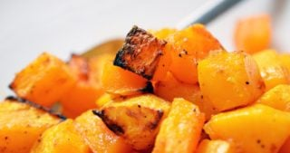A plate of paleo and Whole30 roasted butternut squash.