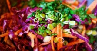 Red Cabbage Slaw with Tangy Carrot Ginger Dressing by Michelle Tam / Nom Nom Paleo