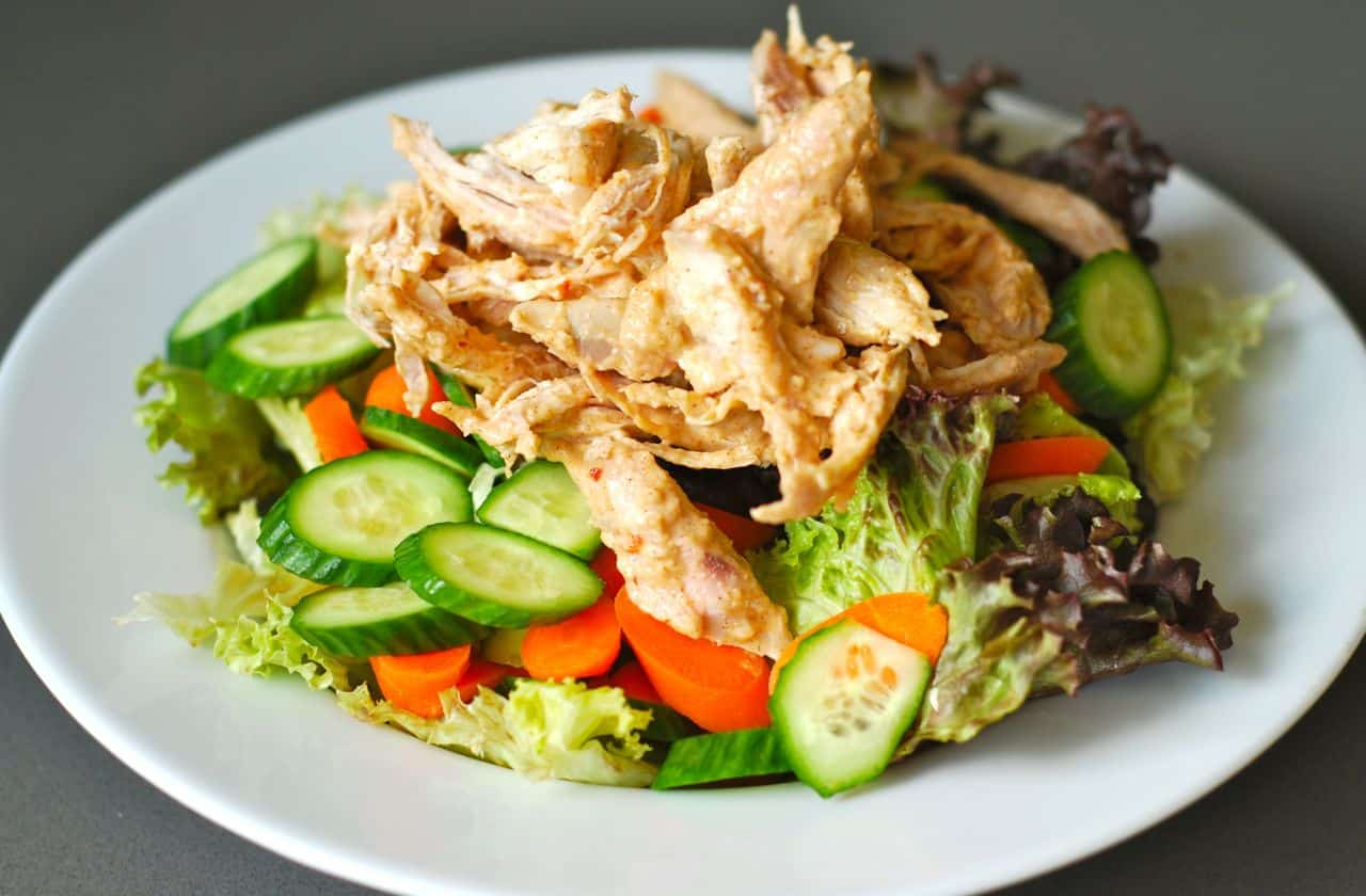 Lunch! Asian Almond chicken salad v.2 - Nom Nom Paleo®