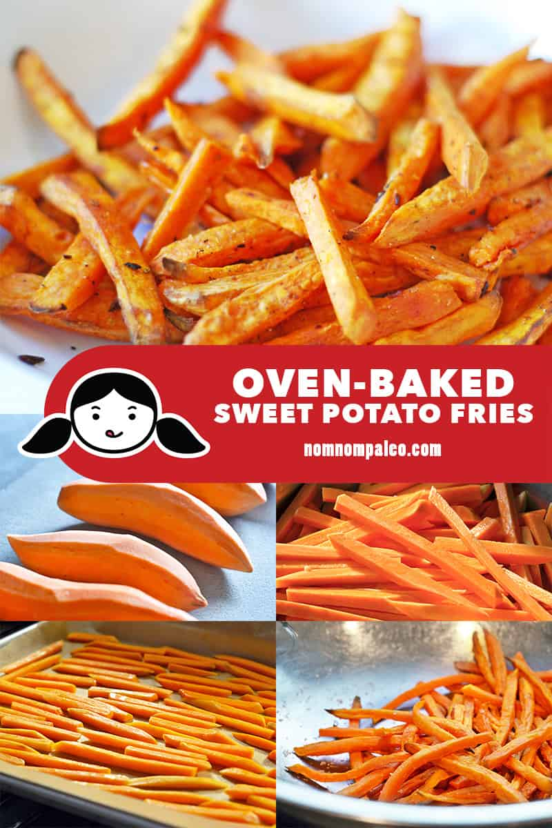 Oven Baked Sweet Potato Fries Nom Nom Paleo
