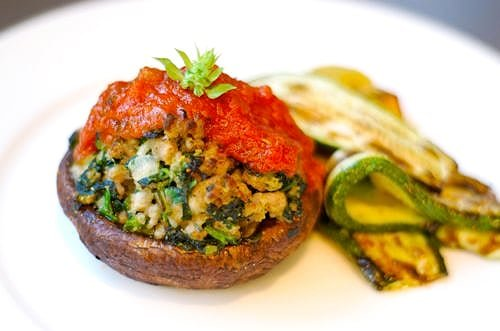Sausage and Spinach Stuffed Portobello Mushrooms by Michelle Tam / Nom Nom Paleo