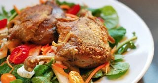 Thai-Inspired Crispy Duck & Arugula Salad