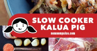 A collage of the cooking steps for Slow Cooker Kalua Pig.