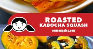 A collage of the cooking steps for Roasted Kabocha Squash