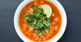 The Domestic Man's Caldo de Langostinos (Mexican Squat Lobster Soup) for Nom Nom Paleo