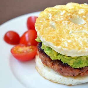 "Paleo Sausage Egg ""McMuffin"" by Michelle Tam https://nomnompaleo.com"