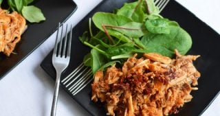 Stupid Easy Paleo's Kickin' BBQ Shredded Chicken for Nom Nom Paleo