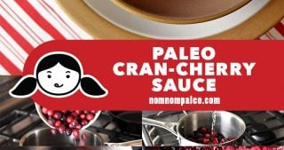 The step-by-step photos on how to make paleo Cran-cherry sauce, a Nom Nom Paleo recipe.