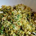 Warm Brussels Sprouts Slaw with Asian Citrus Dressing by Michelle Tam https://nomnompaleo.com