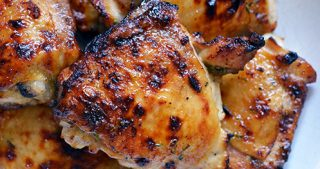 The Paleo Kitchen's Honey Mustard Chicken Thighs
