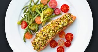 Slim Palate's Pistachio-Crusted Salmon