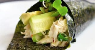 Crab + Avocado Temaki by Michelle Tam / Nom Nom Paleo https://nomnompaleo.com