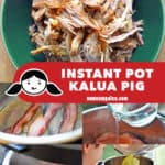 A collage of the cooking steps for Instant Pot Kalua Pig.