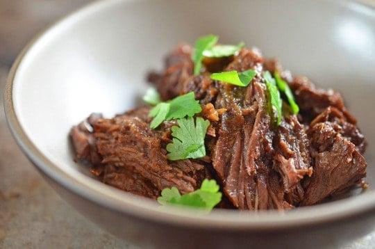 Instant Pot (Pressure Cooker) Mocha-Rubbed Pot Roast
