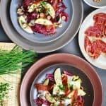 Endive, Radicchio, and Apple Salad With Porkitos and Hazelnuts
