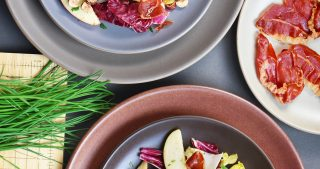 Endive, Radicchio, and Apple Salad With Porkitos and Hazelnuts