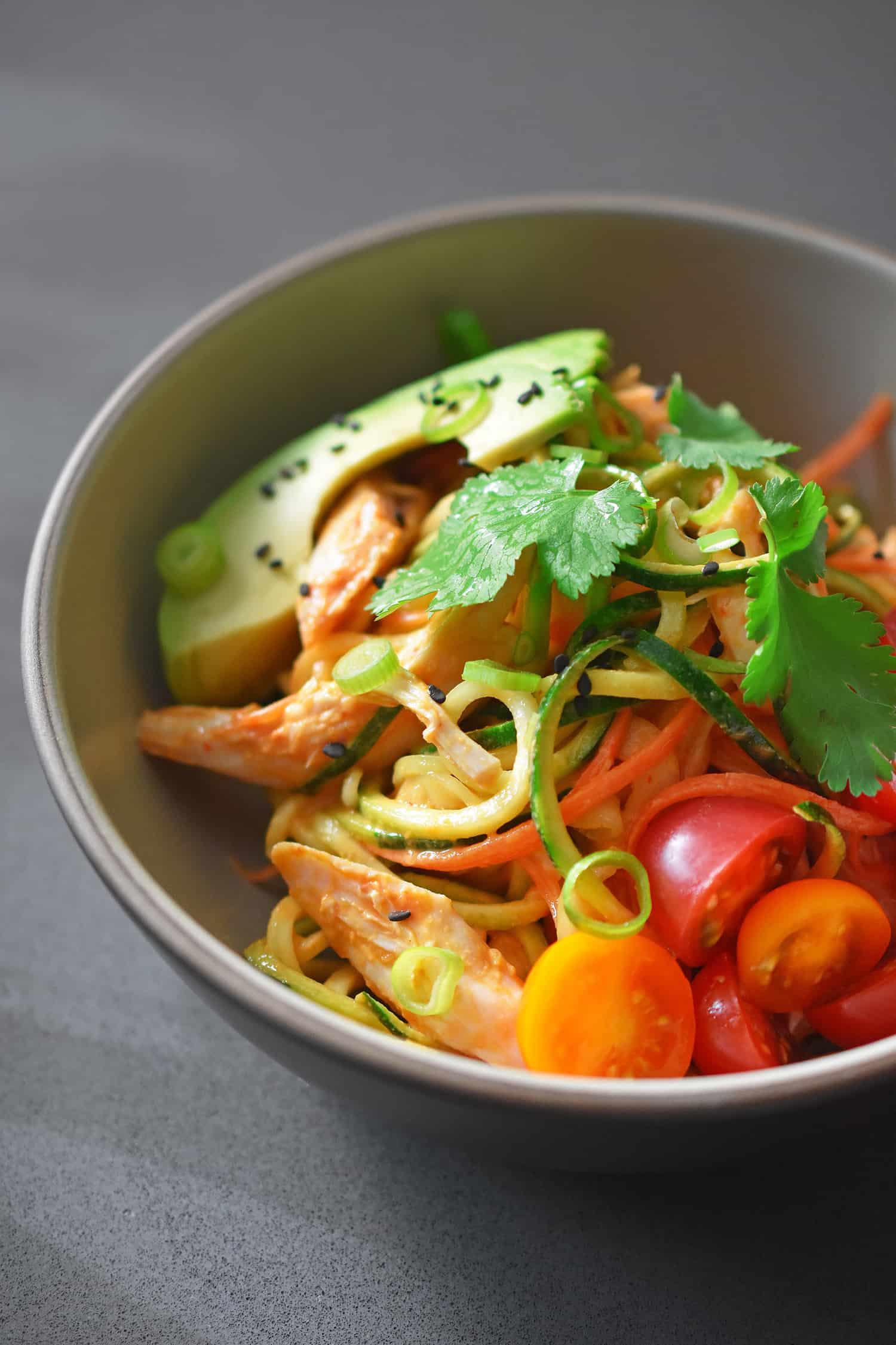 Spicy Thai Chicken Zoodle Salad Nom Nom Paleo 174