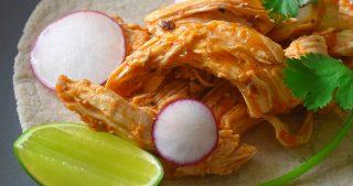 Pressure Cooker Salsa Chicken Tacos