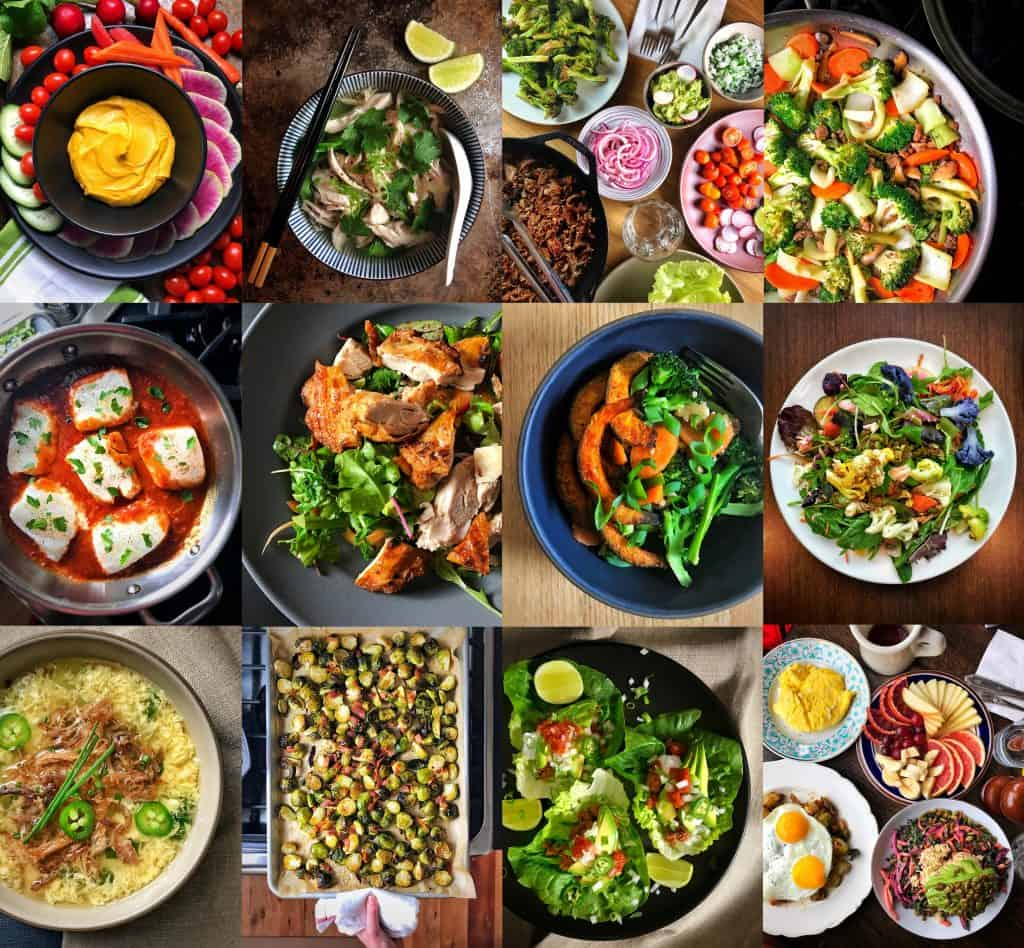 A collage of Nom Nom Paleo's best Whole30 dishes.