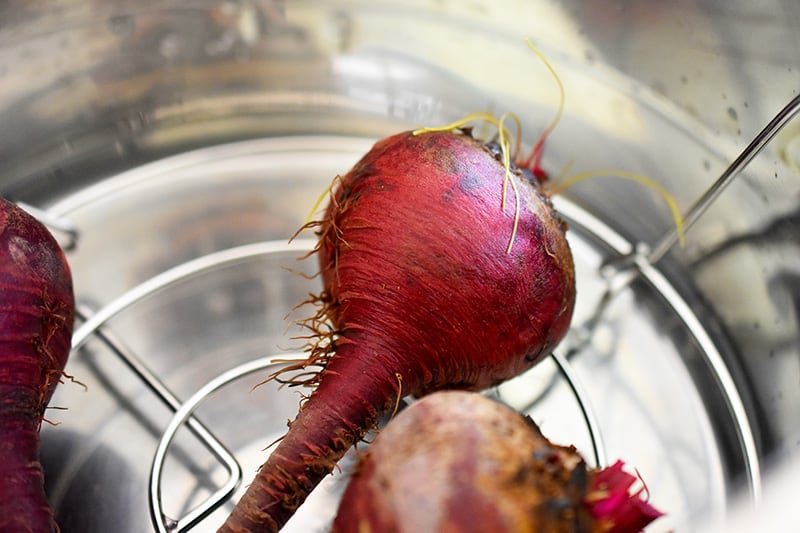 Three beets in an instant pot.