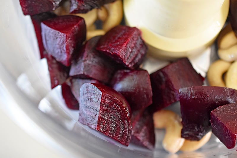 Beet Hummus by Michelle Tam http://nomnompaleo.com
