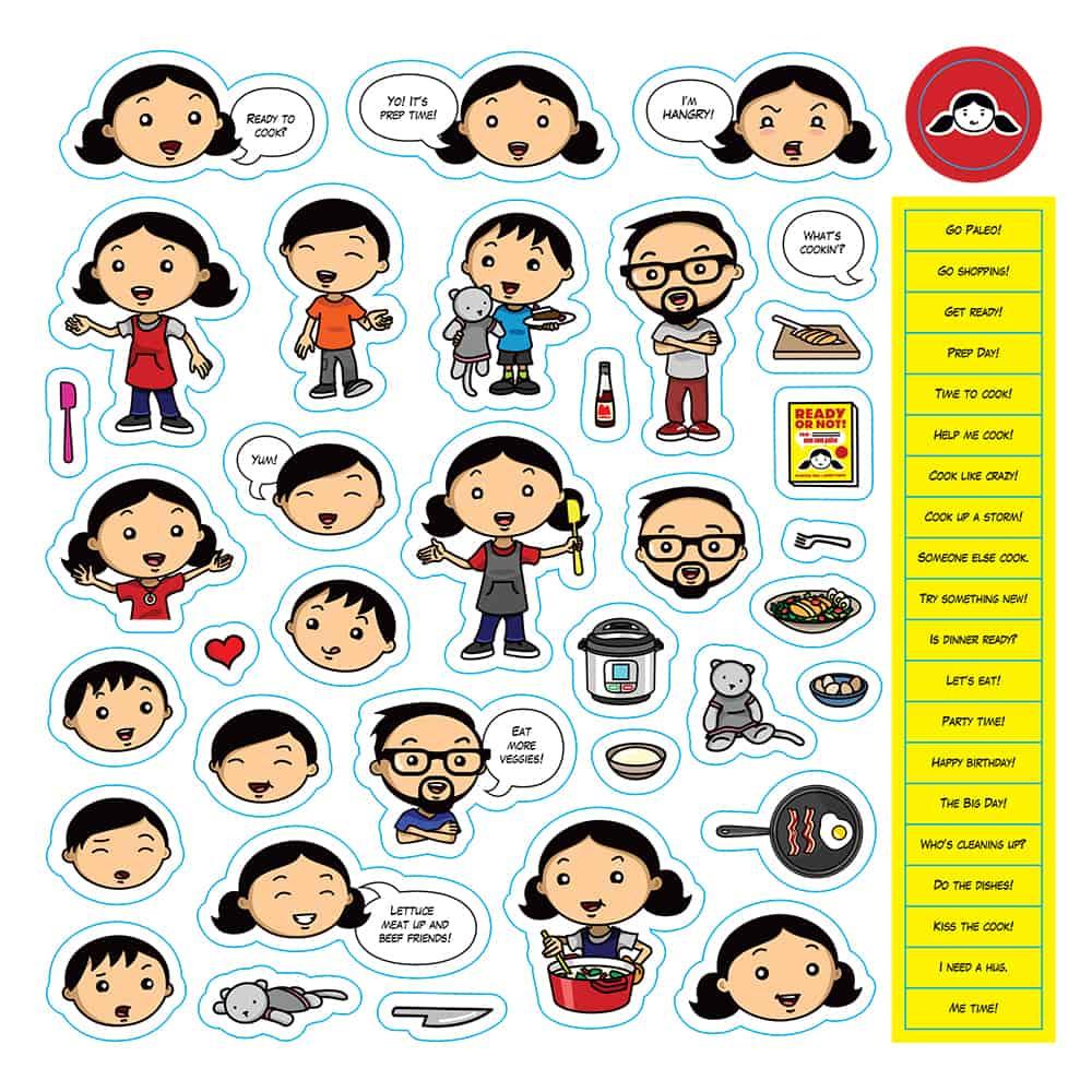 Nom Nom Paleo Stickers
