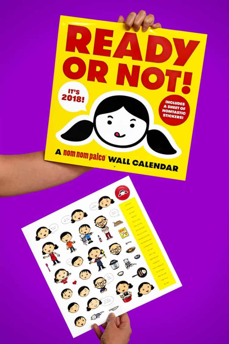 2018 Ready or Not! Wall Calendar by Michelle Tam + Henry Fong http://nomnompaleo.com