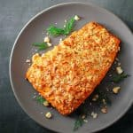 Macadamia-Crusted Sriracha Ranch Salmon