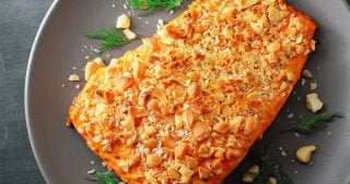Macadamia-Crusted Sriracha Ranch Salmon