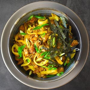 Kimchi Fried Cauliflower Rice by Michelle Tam http://nomnompaleo.com