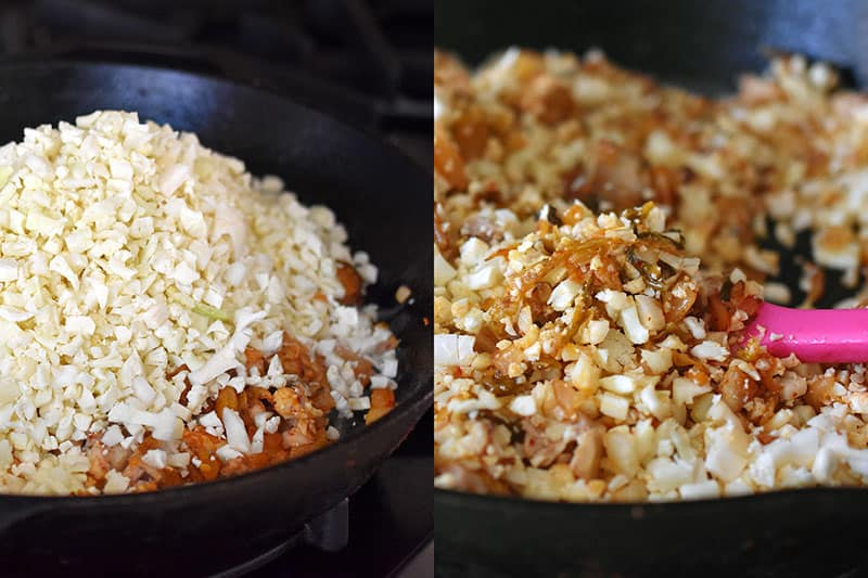 Kimchi Cauliflower Fried Rice by Michelle Tam http://nomnompaleo.com