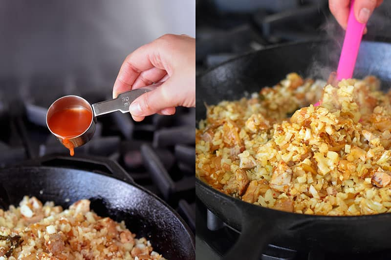Kimchi Cauliflower Fried Rice by Michelle Tam https://nomnompaleo.com