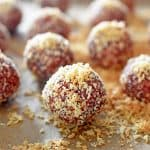 """PB&J"" Energy Balls by Michelle Tam https://nomnompaleo.com"