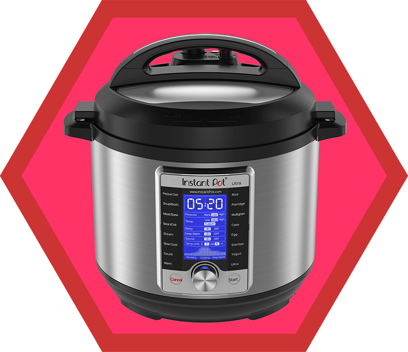 A front shot of an Instant Pot Ultra