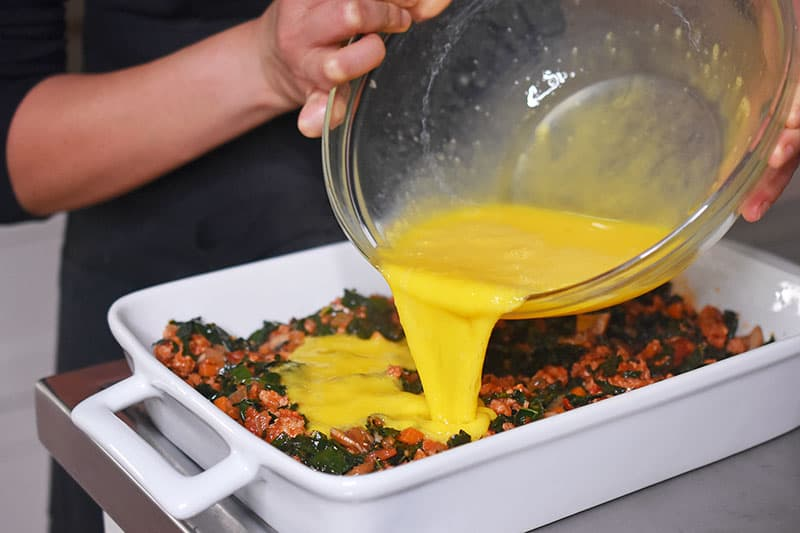 Italian Sausage + Kale Casserole by Michelle Tam http://nomnompaleo.com