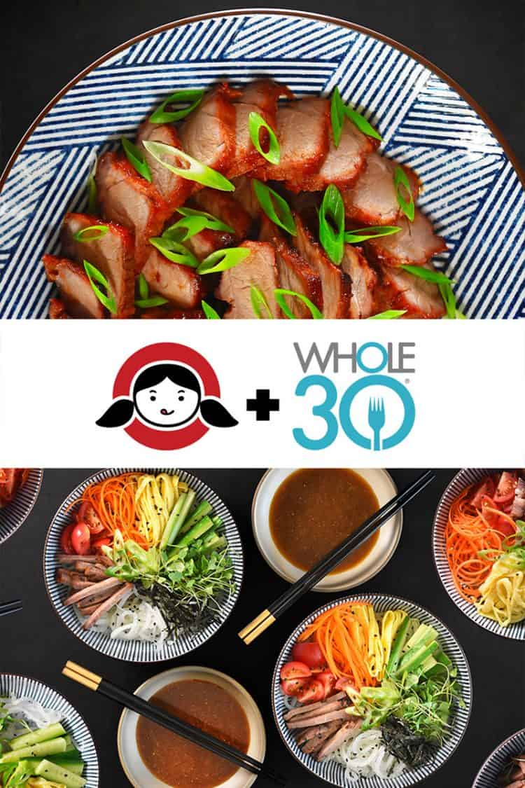 Whole30 Char Siu and Hiyashi Chūka by Michelle Tam / Nom Nom Paleo https://nomnompaleo.com