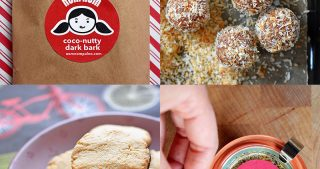 A collage go homemade paleo edible holiday gifts by Nom Nom Paleo