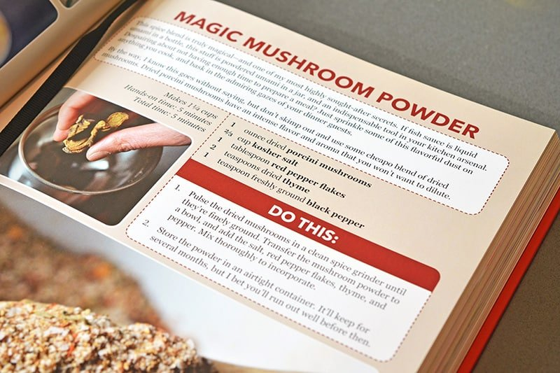 A shot of the Magic Mushroom Powder recipe from the Nom Nom Paleo: Food For Humans cookbook