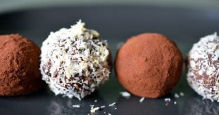 Nom Nom Chocolate Truffles by Michelle Tam https://nomnompaleo.com
