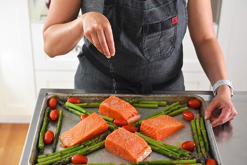 Sheet Pan Salmon Supper by Michelle Tam / Nom Nom Paleo https://nomnompaleo.com
