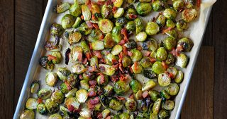 Roasted Brussels Sprouts + Bacon by Michelle Tam / Nom Nom Paleo https://nomnompaleo.com