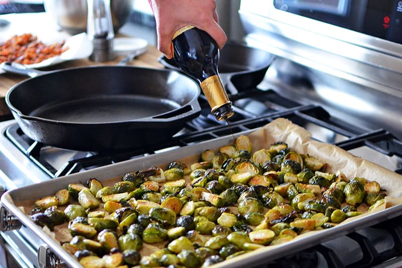 Whole30 Day 21: Roasted Brussels Sprouts + Bacon by Michelle Tam / Nom Nom Paleo https://nomnompaleo.com