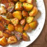 Instant Pot (Pressure Cooker) Crispy Potatoes by Michelle Tam / Nom Nom Paleo https://nomnompaleo.com