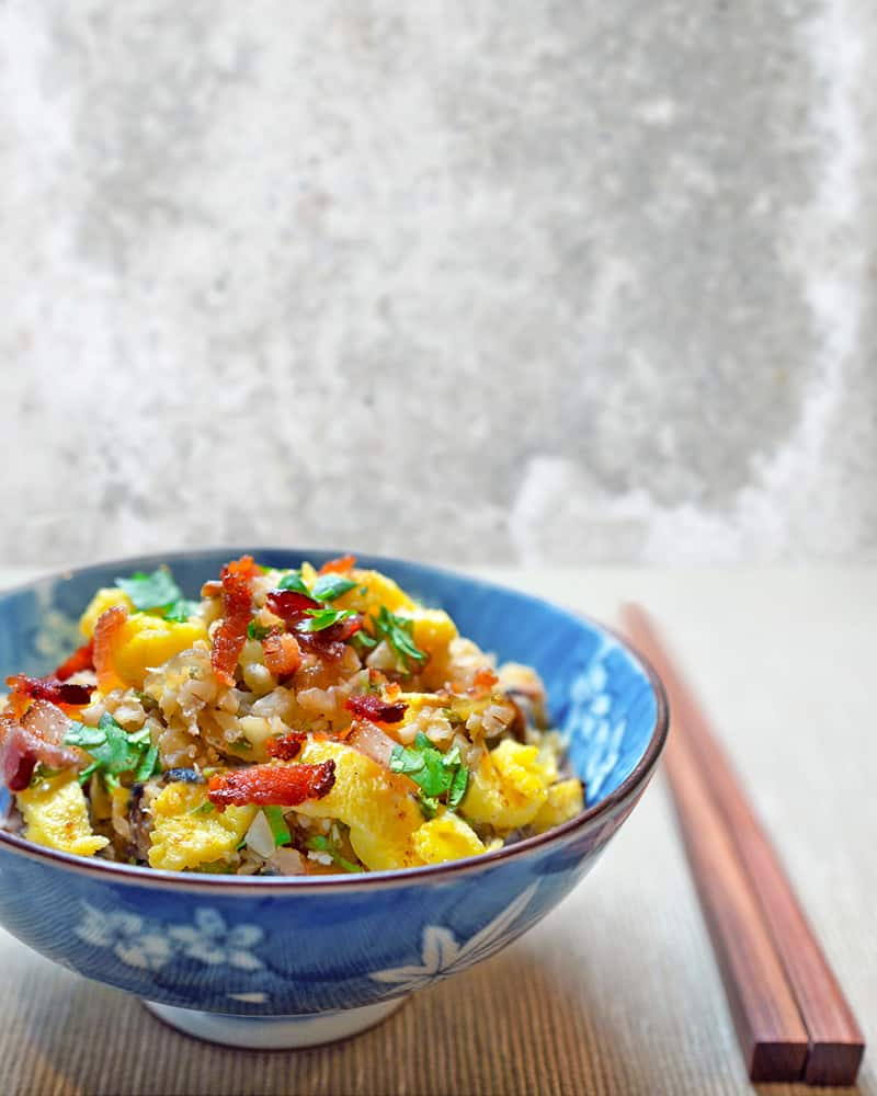 "Asian Cauliflower Fried ""Rice"" by Michelle Tam / Nom Nom Paleo https://nomnompaleo.com"