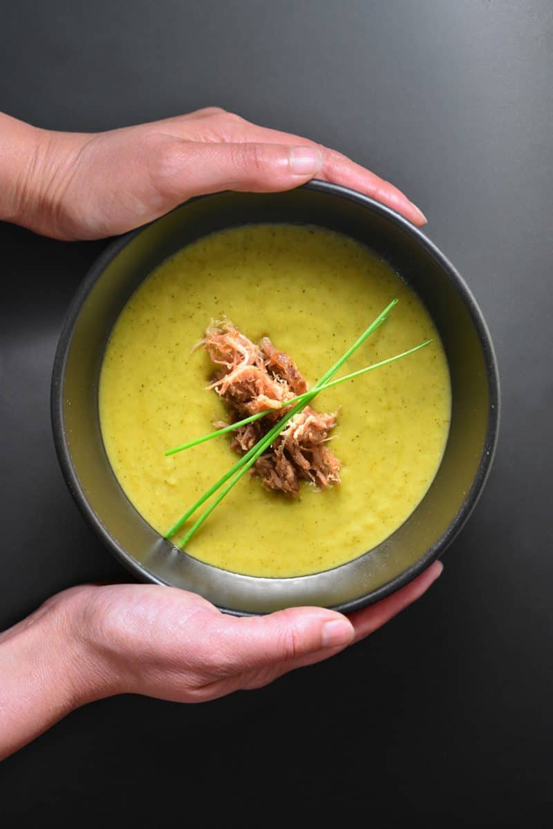 Instant Pot Curried Cream of Broccoli Soup by Michelle Tam https://nomnompaleo.com