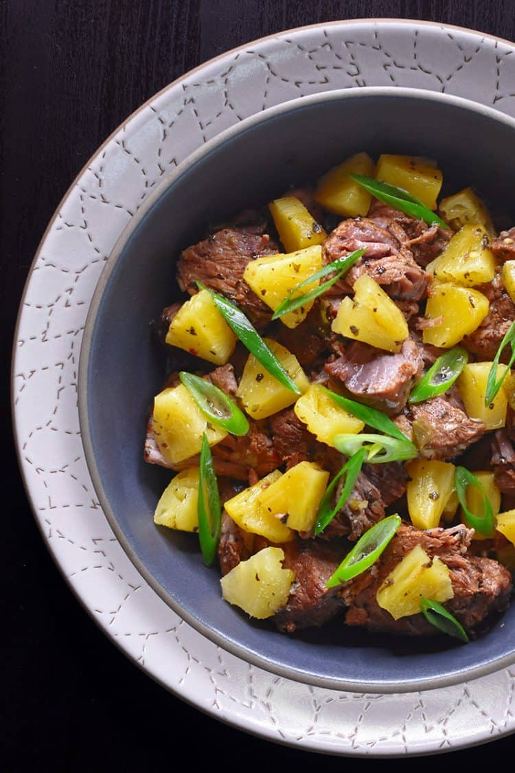 Instant Pot Spicy Pineapple Pork by Michelle Tam / Nom Nom Paleo https://nomnompaleo.com