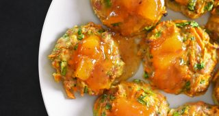 Curry Turkey Bites + Apricot-Ginger Sauce