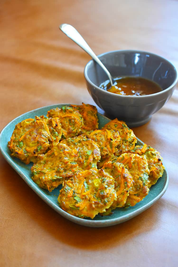 Curry Turkey Bites + Apricot-Ginger Sauce by Michelle Tam https://nomnompaleo.com