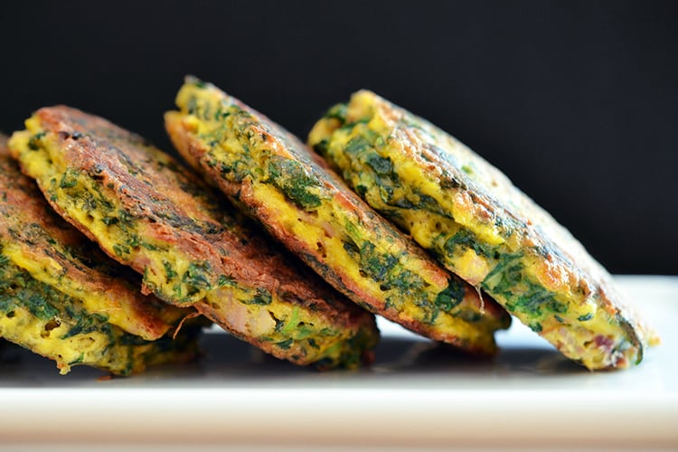 Egg Foo Young-ish (Spinach, Egg, Ham & Coconut Pancakes) by Michelle Tam https://nomnompaleo.com