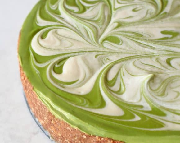 No-Bake Matcha Cheesecake by Michelle Tam https://nomnompaleo.com